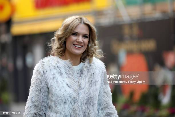Charlotte Hawkins seen arriving at Smooth Radio Studios on November 27 2020 in London England