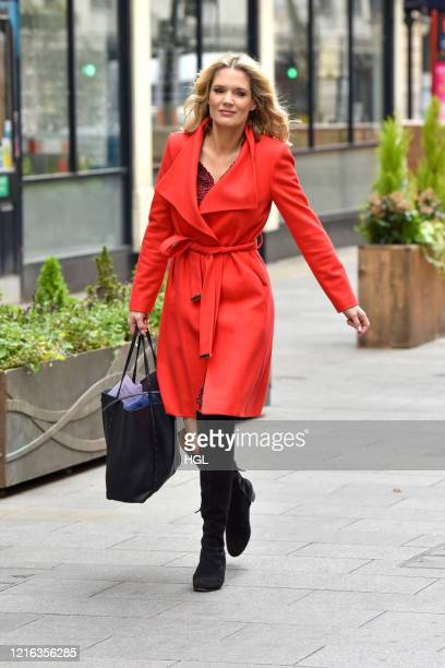 Charlotte Hawkins seen arriving at the Global studios to prerecord her Classic FM Radio showon April 02 2020 in London England