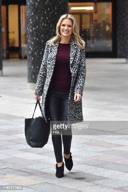 Charlotte Hawkins seen at the ITV Studios on October 15 2019 in London England