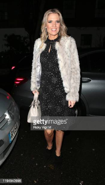 Charlotte Hawkins seen attending Piers Morgan's Christmas party at Scarsdale Tavern on December 19 2019 in London England