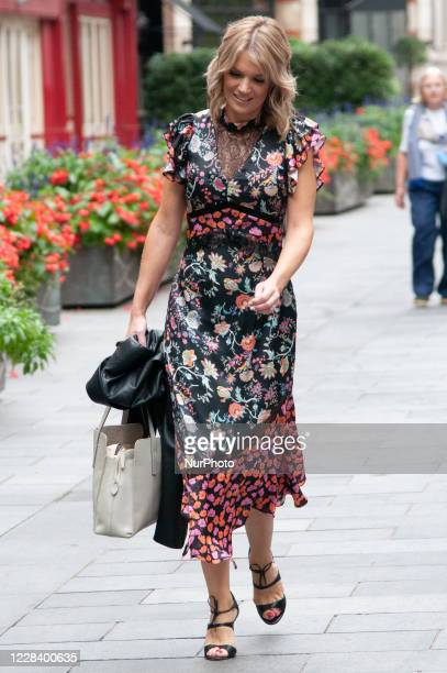 Charlotte Hawkins seen leaving Global Studios Classic FM on September 8 2020 in London England