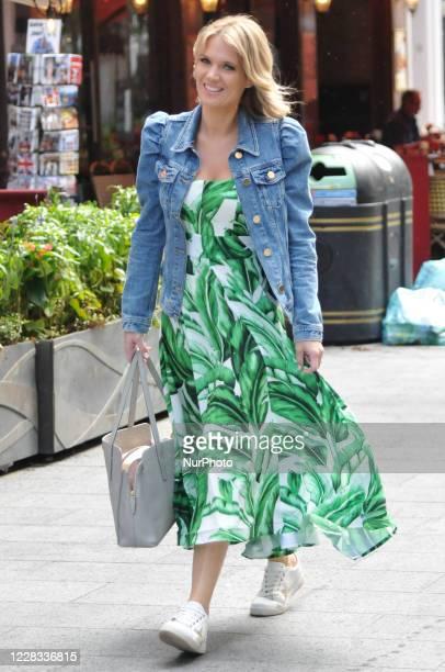 Charlotte Hawkins seen leaving Global Studios on September 4, 2020 in London, England.