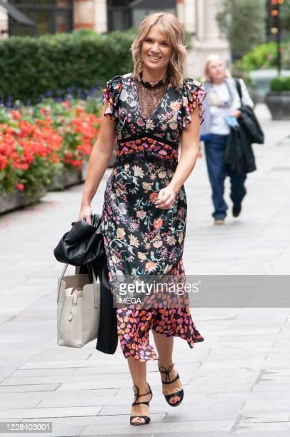 Charlotte Hawkins seen leaving Global Studios on September 8, 2020 in London, England.