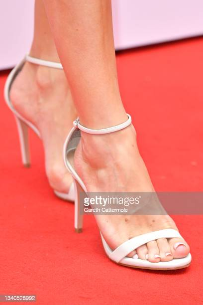 Charlotte Hawkins, shoe detail, attends The TRIC Awards 2021 at 8 Northumberland Avenue on September 15, 2021 in London, England.
