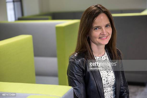 Charlotte Hogg chief operating officer of the Bank of England poses for a photograph following an interview inside the central bank's offices in...