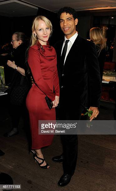 Charlotte Holland and Carlos Acosta attend an after party celebrating the UK Premiere of Day Of The Flowers at The Mayfair Hotel on November 24 2013...