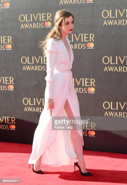 Charlotte Hope arrives for The Olivier Awards 2017 at the Royal Albert Hall on April 9 2017 in London England