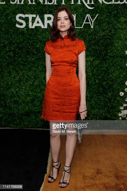 Charlotte Hope attends an exclusive screening for STARZPLAY's 'The Spanish Princess' out 5th May at Charlotte Street Hotel on April 10 2019 in London...