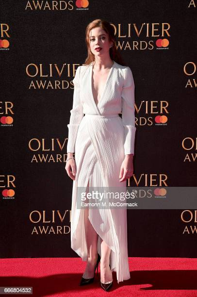 Charlotte Hope attends The Olivier Awards 2017 at Royal Albert Hall on April 9 2017 in London England