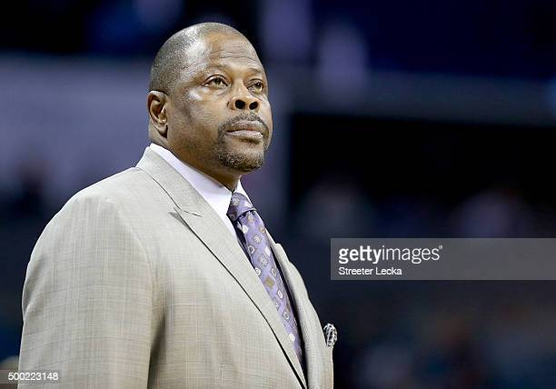 Charlotte Hornets assitant coach Patrick Ewing during their game at Time Warner Cable Arena on November 1 2015 in Charlotte North Carolina NOTE TO...