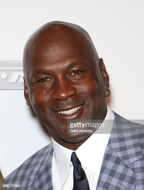 Charlotte Hornets owner and former National Basketball Association player Michael Jordan arrives at the Derek Jeter Celebrity Invitational red carpet...