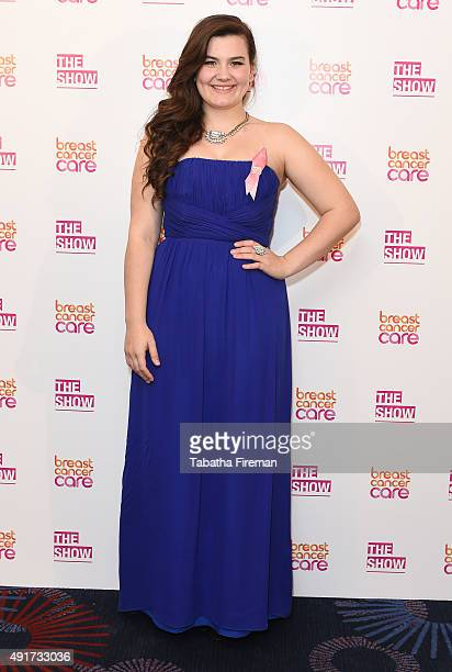 Charlotte Jaconelli attends Breast Cancer Care's London fashion show at Grosvenor House Hotel to launch Breast Cancer Awareness Month on October 7...