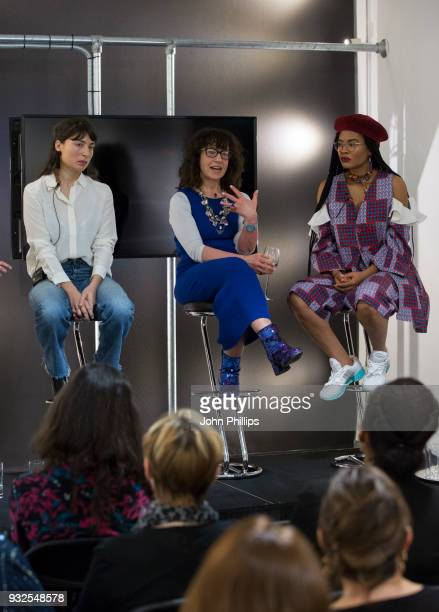 Charlotte Jansen, author and journalist, Sue Unerman, Chief Transformation Officer, MediaCom and Stephanie Nnamani, Getty Images photographer attend...