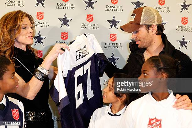 Charlotte Jones Anderson and Enrique Iglesias announce Enrique Iglesias will kick off the 120th Anniversary Of The Salvation Army Red Kettle Campaign...