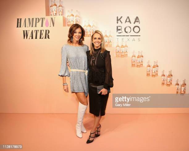 Charlotte Jones Anderson and Meredith Land attend the KAABOO Texas Welcomes Hampton Water Tasting at The Joule Hotel on February 28 2019 in Dallas...