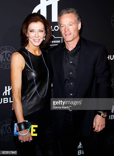 Charlotte Jones Anderson and Shy Anderson at Solomon R Guggenheim Museum on April 19 2016 in New York City