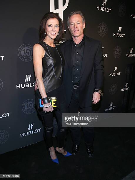 Charlotte Jones Anderson and Shy Anderson attend the Hublot Celebrates 10 Year Anniversary Of All Black Collection at Solomon R Guggenheim Museum on...