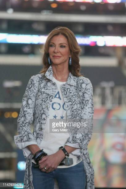 Charlotte Jones Anderson attends a press conference to kick off day one of KAABOO Texas at ATT Stadium on May 10 2019 in Arlington Texas