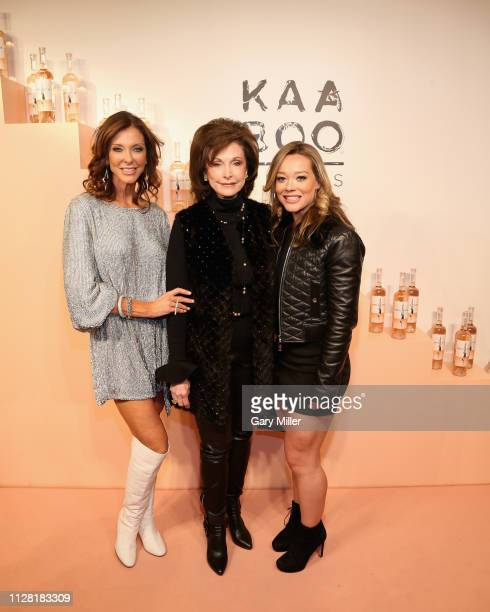Charlotte Jones Anderson Gene Jones and Haley Anderson attend the KAABOO Texas Welcomes Hampton Water at The Joule Hotel on February 28 2019 in...