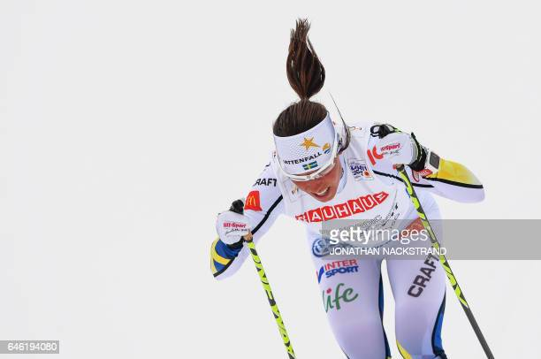 TOPSHOT Charlotte Kalla of Sweden competes during the women cross country 10 km individual classic competition of the 2017 FIS Nordic World Ski...