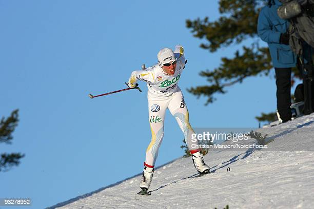 Charlotte Kalla of Sweden competes in the Women's 10km Cross Country Skiing during day one of the FIS World Cup on November 21 2009 in Beitostoelen...