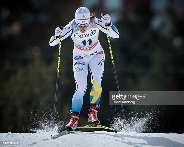 Charlotte Kalla of Sweden during Cross Country Ladies 17 km Sprint Free on March 01 2016 in Gatineau Quebec Canada