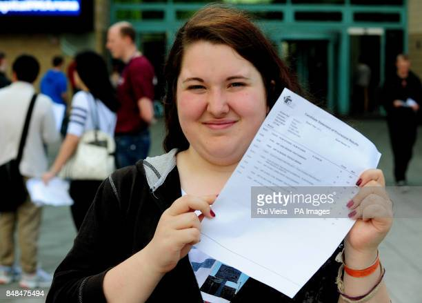 Charlotte Kemp from Beeston after receiving her Alevel results at the Capital FM Arena Nottingham