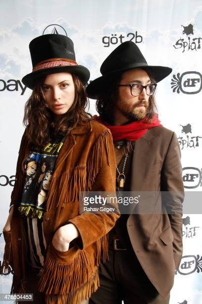 Charlotte Kemp Muhl and Sean Lennon attend eBay Giving Works and Nylon Launch MusiCares Auction during SXSW 2014 on March 14 2014 in Austin Texas