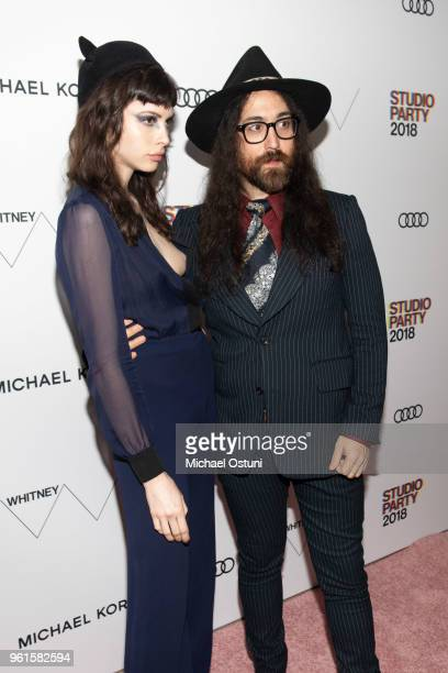 Charlotte Kemp Muhl and Sean Lennon attend the Whitney Museum Celebrates The 2018 Annual Gala And Studio Party at The Whitney Museum of American Art...