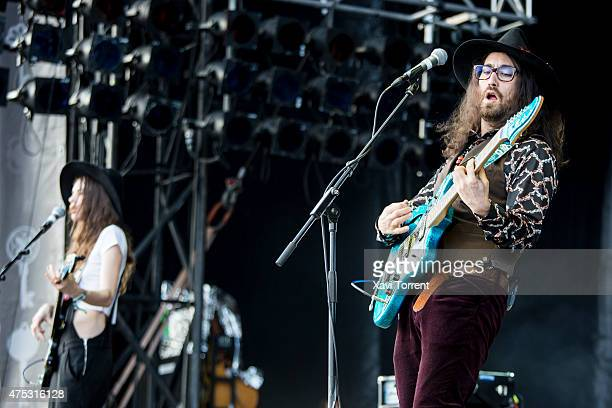 Charlotte Kemp Muhl and Sean Lennon of The Ghost of a Saber Tooth Tiger perform on stage during day 4 of Primavera Sound 2015 on May 30 2015 in...