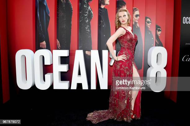 Charlotte Kirk attends Ocean's 8 World Premiere at Alice Tully Hall on June 5 2018 in New York City