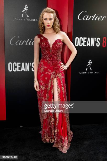 Charlotte Kirk attends 'Ocean's 8' World Premiere at Alice Tully Hall on June 5 2018 in New York City
