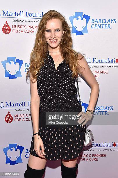 Charlotte Kirk attends TJ Martell Foundation's 41st Annual Honors Gala at Gustavino's on October 18 2016 in New York City
