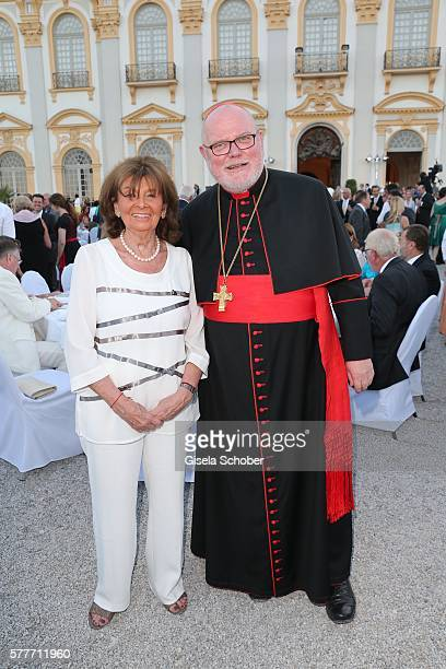 Charlotte Knobloch and Kardinal Reinhard Marx during the Summer Reception of the Bavarian State Parliament at Schleissheim Palace on July 19 2016 in...