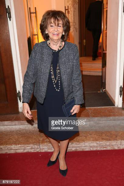 Charlotte Knobloch during the 80th birthday party of Roland Berger at Cuvillies Theatre on November 25 2017 in Munich Germany