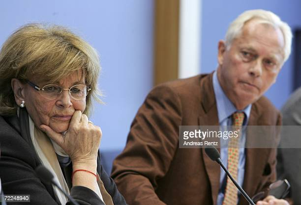 Charlotte Knobloch VicePresident of the World Jewish Congress and head of the Central Council of Jews in Germany and UweKarsten Heye President of...