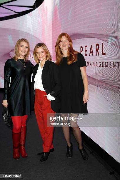 Charlotte Kopp Anja Tillack and Julia Starp during the PEARL Model Management Fashion Aperitif at The Reed on January 13 2020 in Berlin Germany