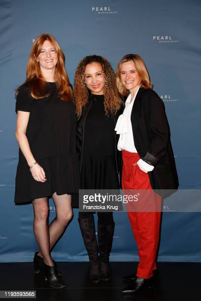 Charlotte Kopp Joyce Darkoh and Anja Tillack during the PEARL Model Management Fashion Aperitif at The Reed on January 13 2020 in Berlin Germany