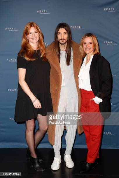 Charlotte Kopp Julian Daynov and Anja Tillack during the PEARL Model Management Fashion Aperitif at The Reed on January 13 2020 in Berlin Germany