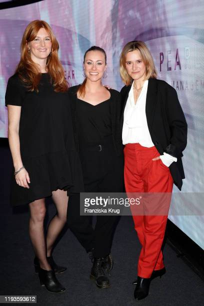 Charlotte Kopp Sina Tkotsch and Anja Tillack during the PEARL Model Management Fashion Aperitif at The Reed on January 13 2020 in Berlin Germany