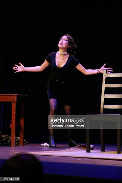 Charlotte Landoy performs during L'Entree des Artistes Theater School by Olivier Belmondo at Theatre Des Mathurins on June 11 2018 in Paris France