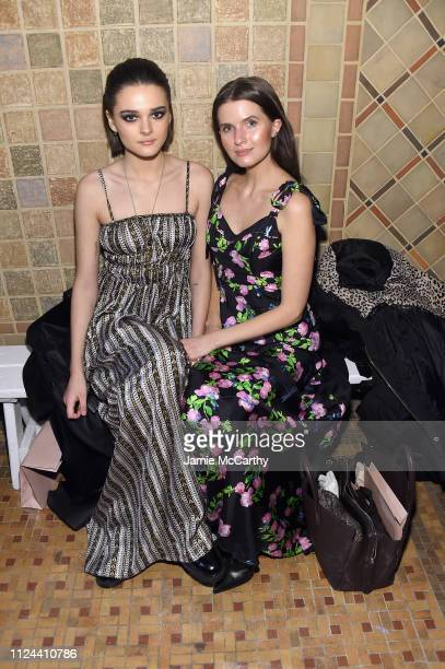 Charlotte Lawrence and Addison Riecke attend the Cynthia Rowley front row during New York Fashion Week The Shows on February 12 2019 in New York City