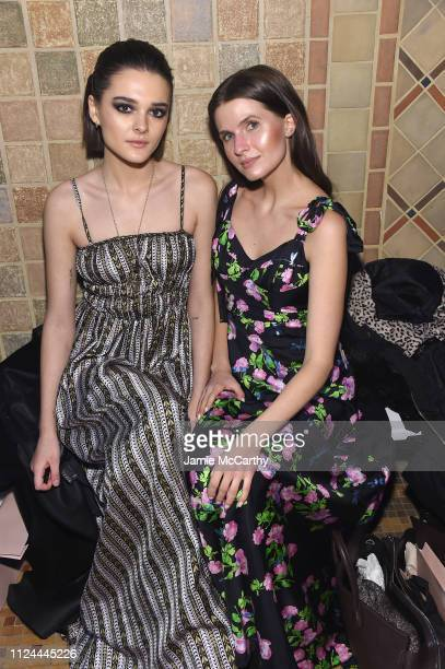 Charlotte Lawrence and Jessica Markowski attend the Cynthia Rowley front row during New York Fashion Week The Shows on February 12 2019 in New York...
