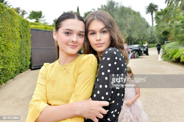 Charlotte Lawrence and Kaia Gerber attend 2018 Best Buddies Mother's Day Brunch Hosted by Vanessa Gina Hudgens on May 12 2018 in Malibu California