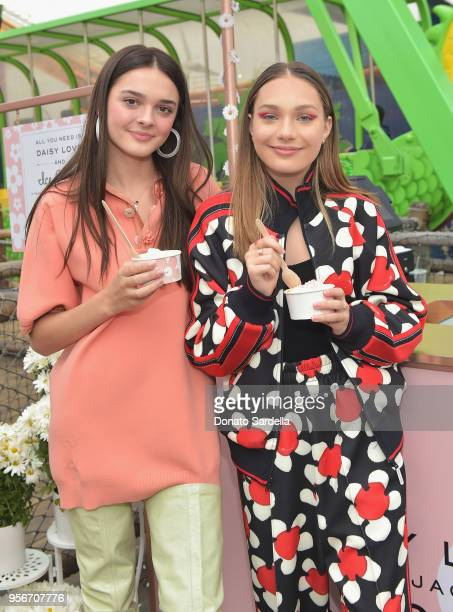 Charlotte Lawrence and Maddie Ziegler attend the Marc Jacobs Fragrances Celebrates the Launch of DAISY LOVE on May 9 2018 in Los Angeles California