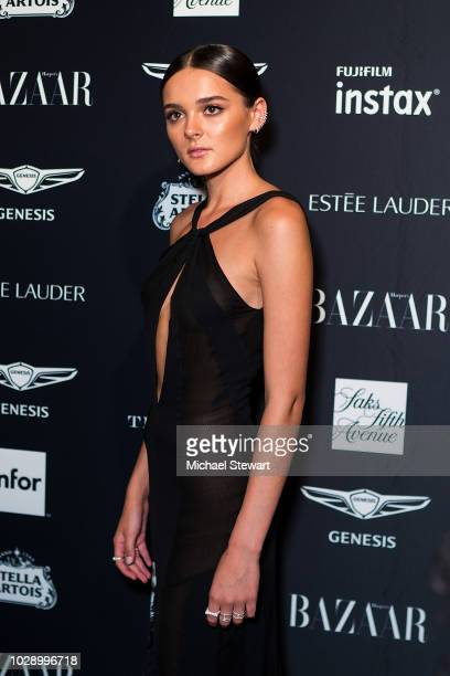 Charlotte Lawrence attends Harper's BAZAAR ICONS at The Plaza Hotel on September 7 2018 in New York City