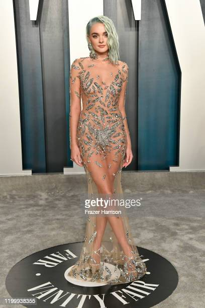 Charlotte Lawrence attends the 2020 Vanity Fair Oscar Party hosted by Radhika Jones at Wallis Annenberg Center for the Performing Arts on February 09...