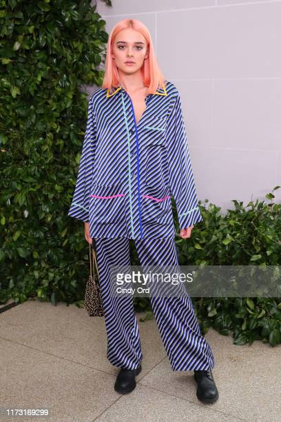 Charlotte Lawrence attends Tory Burch NYFW SS20 at the Brooklyn Museum on September 08 2019 in Brooklyn City