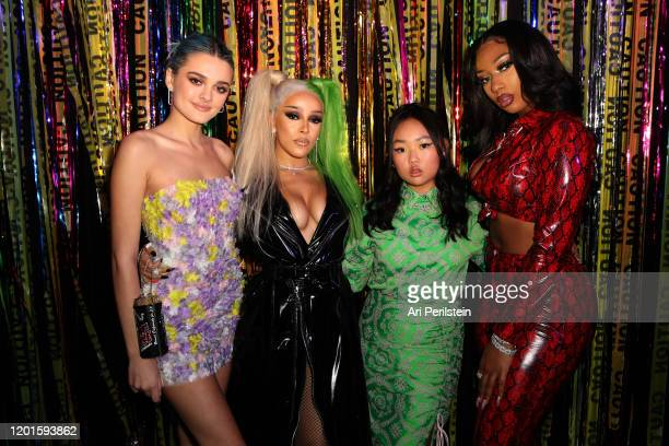 Charlotte Lawrence Doja Cat Ella Jay Basco and Megan Thee Stallion attend Birds Of Prey A Night Of Music And Mayhem In HARLEYWOODat DREAM Hollywood...