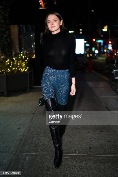Charlotte Lawrence is seen wearing Chanel in the Flatiron District on February 05 2019 in New York City